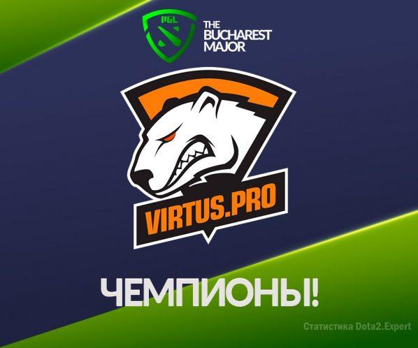 Virtus Pro чемпионы Бухарест Мажор 2018